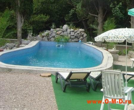 Скиммерный бассейн для дачи