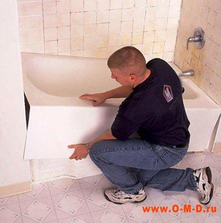 Самостоятельная установка ванны.