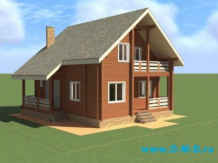 Экологичный дом из профилированного бруса
