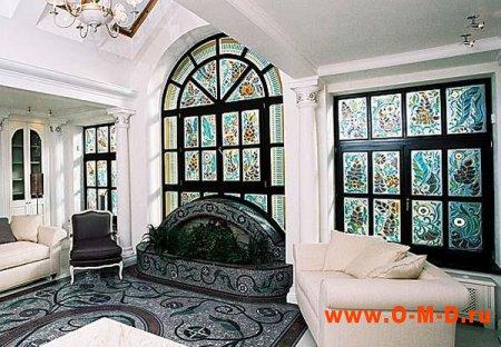 Витражи - роскошный дизайн в классическом стиле