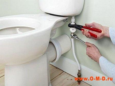 Замена унитаза под ключ, услуги водопроводчика.