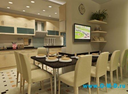 Совмещаем кухню и столовую.