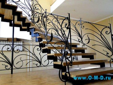 Лестничные ограждения как элемент декора