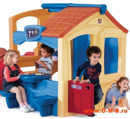 Пластиковые детские площадки.