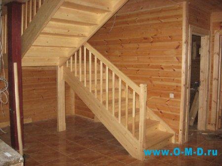 Виды лестниц для двухэтажного  дома.