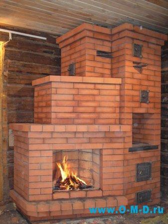 Печь-камин для газобетонного дома.