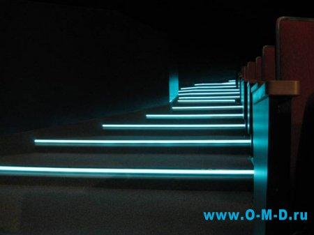 Подсветка отдельных элементов интерьера.