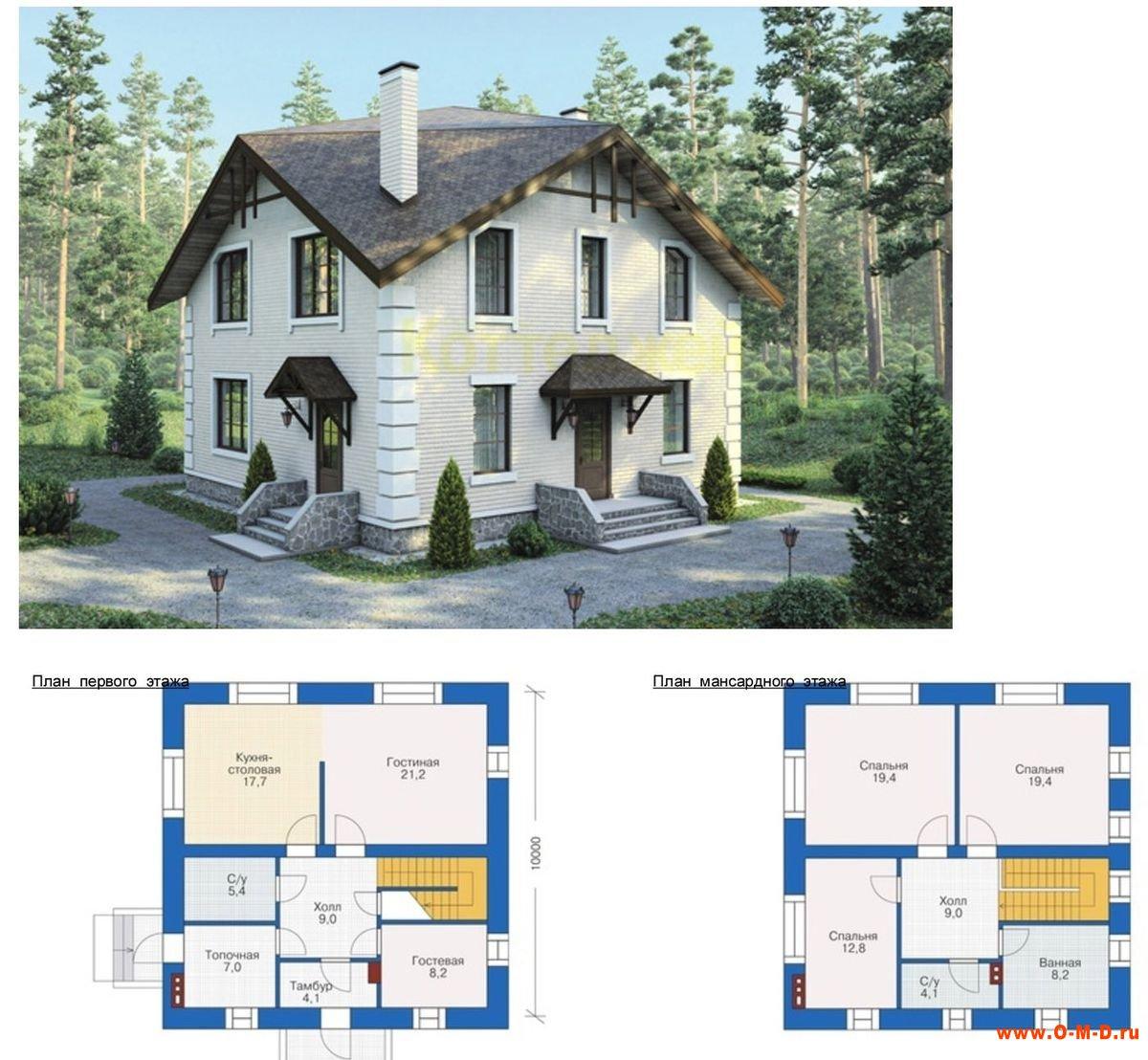 Схема одноэтажного дома 10х10 фото