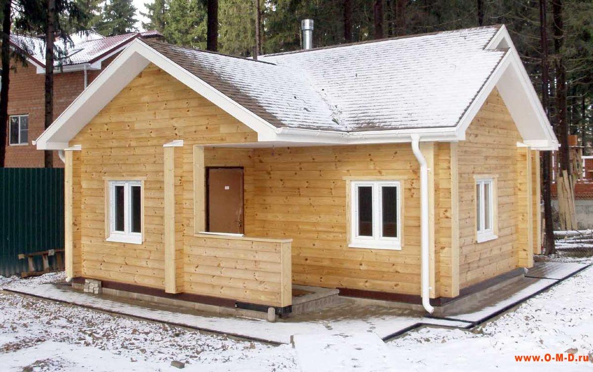 Как построить одноэтажный дом из бруса своими руками
