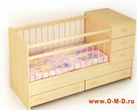 Детская кровать: первое ложе новорожденного