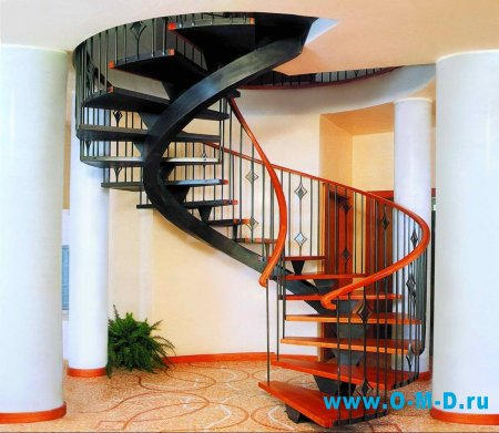 Виды лестниц для загородного дома