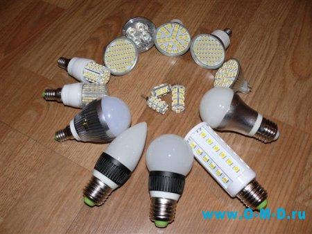 Потолочные светодиодные светильники.