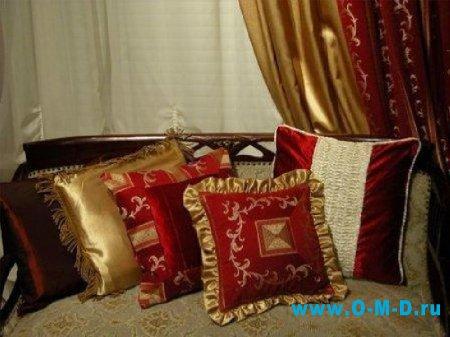 Мягкая мебель: украшаем декоративными подушками