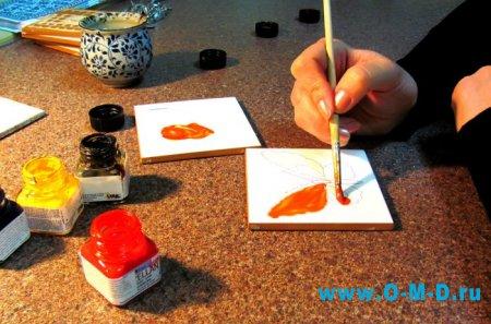 Декоративная окраска кафельной плитки