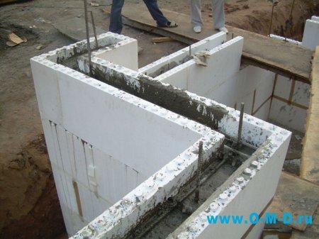 Несъемная опалубка в индивидуальном строительстве