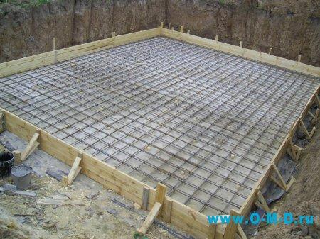 Строительство дома на плитном фундаменте