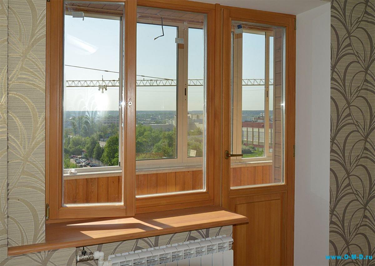 Деревянные окна со стеклопакетом для квартиры и дачи, недоро.