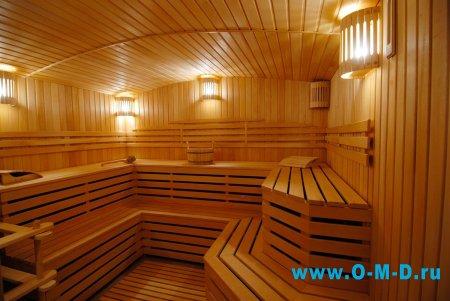Особенности освещения бани