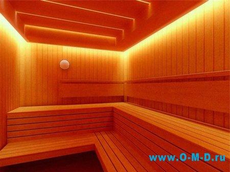Особенности освещения в сауне