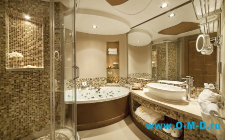 Тренд внутреннего интерьера - мозаика в ванной комнате