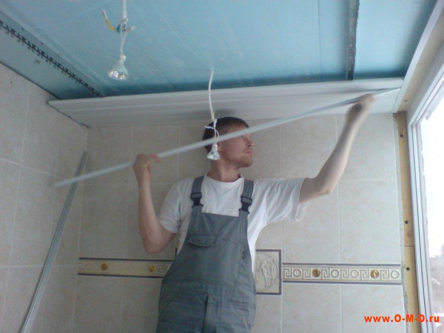 Как свои руками потолок в ванной 406