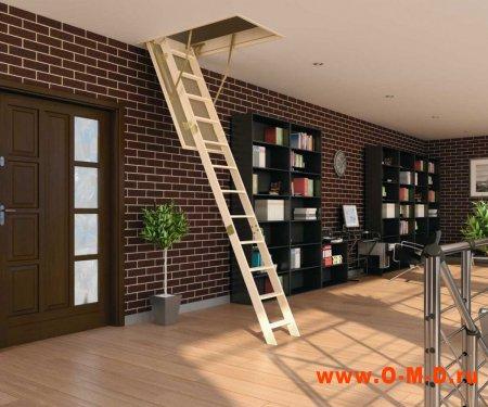 Особенности конструкции люк-лестниц на чердак